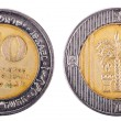 Isolated 10 Shekels - Both Sides Frontal — Stock Photo