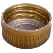 Isolated Gold Plastic Cap — Stock Photo