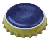Isolated Blue and Yellow Metal Cap — Stock Photo