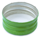 Isolated Green Metal Bottle Cap — Stock Photo
