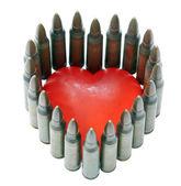 Bar mýdlo ve tvaru srdce — Stock fotografie