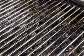 Grill Grate and Lava Stones — Stock Photo