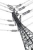 Torre eléctrica aislada — Foto de Stock