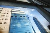 Office Buildings Through Window — Stock Photo