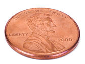 Isolated Penny - Both Sides High Angle — Stock Photo