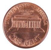 Isolated Penny - Tails Frontal — Stock Photo