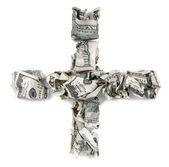 Plus - Crimped 100 us dollar Bills — Stock Photo