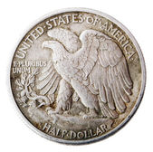Poca libertad medio dólar - cruz frontal — Foto de Stock
