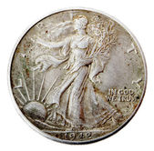 Walking Liberty Half Dollar - Heads Frontal — Stock Photo