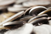 Coins Macro Background — Stock Photo