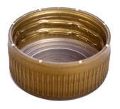 隔離された金プラスチック キャップ — ストック写真