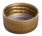 Isolated Gold Plastic Cap — Stock Photo