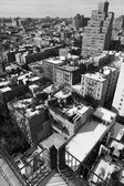West Village Snow Covered Roof Tops Manhattan New-York Monochrom — Stock Photo