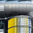 Stock Photo: Yellow Curtains Architecture Detail