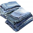 Royalty-Free Stock Photo: Isolated Jeans Stacks