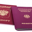 Double Nationality - Russian and German — Stock Photo