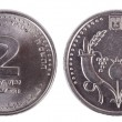 Isolated 2 Shekels - Both Sides Frontal — Stock Photo