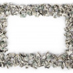 Crimped Cash Frame — Stock Photo
