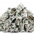 Crimped Pile of Cash — Stock Photo