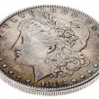 Morgan Dollar - Heads High Angle — Stock Photo