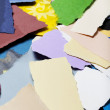 Colorful Torn Paper Background — Stock Photo