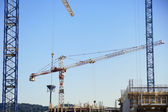 Construction Site Cranes — Stock Photo