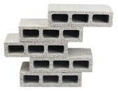 Geïsoleerde constructie blokken - vijf — Stockfoto