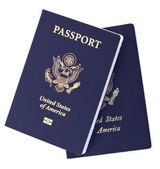 Isolated American Passports — Stock Photo