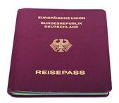 Isolated German Passport — Stock Photo