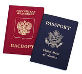 Double Nationality - American and Russian — Stock Photo