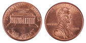 Isolated Penny - Both Sides Frontal — Foto de Stock