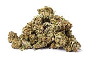 Isolated Marijuana Pile — Stock Photo