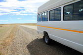 Minibus on Roadside — Stock Photo