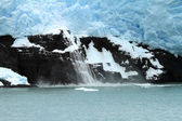 Gelo caindo — Fotografia Stock