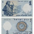 Discontinued Israeli Money - 1 Lira - Stock Photo