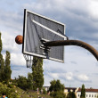 Royalty-Free Stock Photo: Basket & Ball at the Park