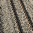 Tilted Railroad — Stock Photo