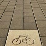 Постер, плакат: Bicycle Path Sign