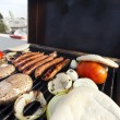 Urban Rofftop Grillin - Stock Photo