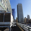 Stock Photo: Port Authority Rooftop Parking and Skyscrapers ManhattNew Yor