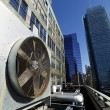 Stock Photo: UrbHVAC Air Contidioner Outdoor Unit ManhattNew-York