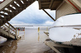 Winter at the Lifeguard Hut — Stock Photo