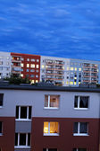 East Berlin Apartment Building Blocks at Dusk — Stock Photo