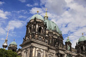 Berliner Dom and Fernsehturm — Stock Photo