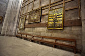 Holy Sepulchre Basilica Bench — Stock Photo