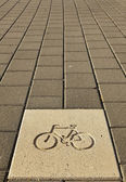 Bicycle Path Sign — 图库照片