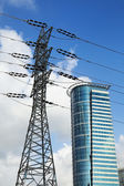 Pylon and Skyscraper — Stock Photo