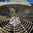 Stock Photo: HVAC Air Conditioner Ventilator Wide Angle Close-Up