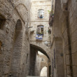 An alley in the Jewish quarter of the old city — Stock Photo