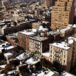West Village Snow Covered Roof Tops Manhattan New-York — Stock Photo